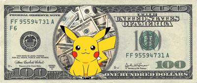 pikachu dollar